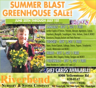 Summer Blast Greenhouse Sale!