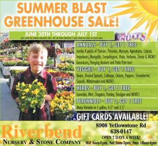 Summer Blast Greenhouse Riverbend Nursery And Stone Company Cheyenne Wy