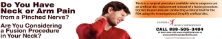 Do you have Neck or Arm Pain?
