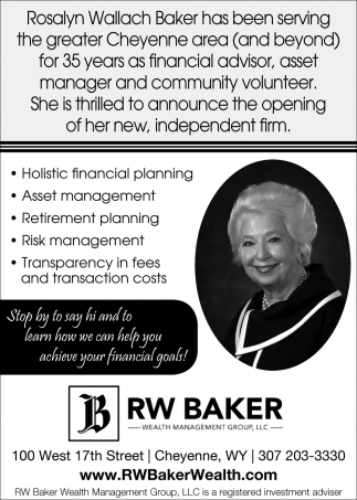 Rosalyn Wallach Baker has Been Serving the Greater Chyenne Area