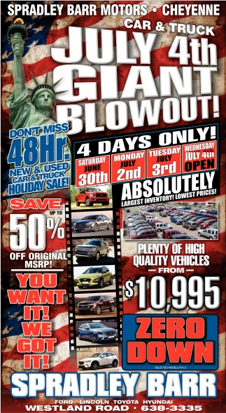 July 4th Giant Blowout