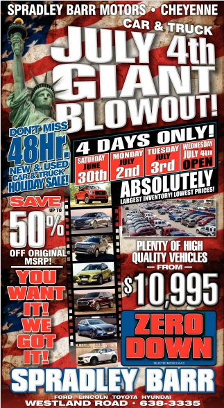 July 4th Giant Blowout!