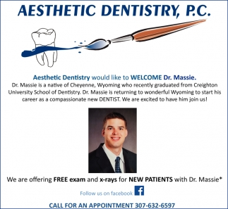 Aesthetic Dentistry Would Like to Welcome Dr. Massie.