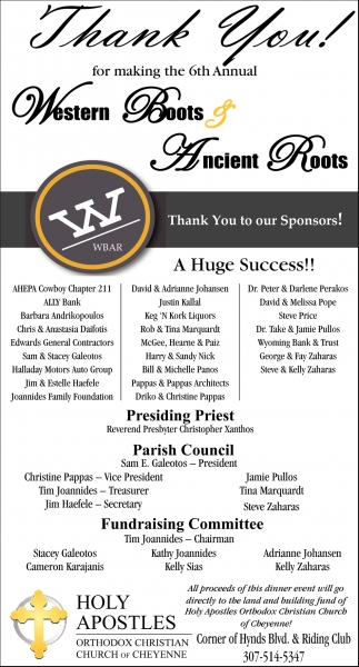 Thank You for Making the 6th Western Boots & Ancient Roots a Huge Success!!