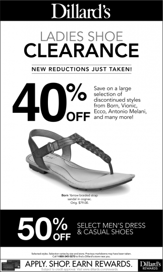 Ladies Shoe Clearance