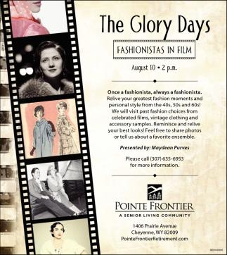 The Glory Days Fashionistas in Film