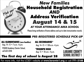 New Families Household Registration