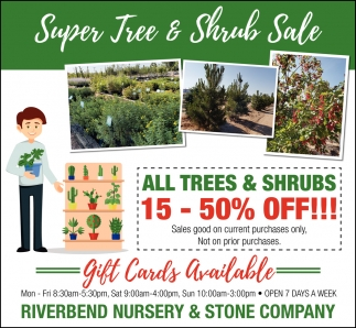 Super Tree & Shrub Sale