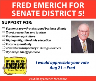 Fred Emerich for Senate District 5!