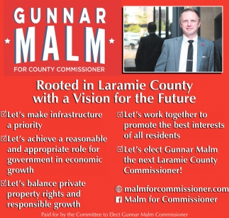 Gunnar Malm for County Commissioner