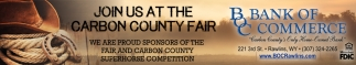 Join as at the Carbon County Fair
