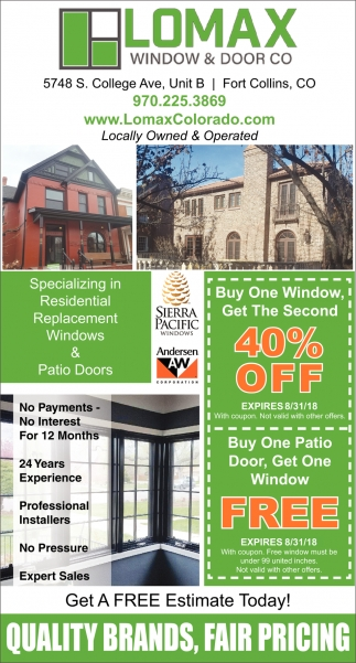 Buy One Window Get the Second 40% OFF