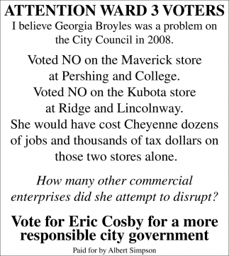 Vote for Eric Cosby