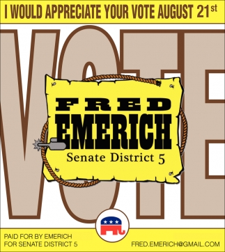 Fred Emerich Senate District 5