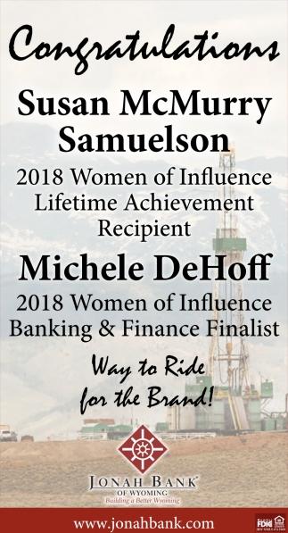 Congratulations Susan McMurry Samuelson