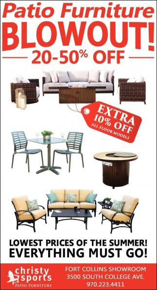 Patio Furniture Blowout!