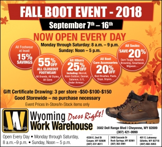 Fall Boot Event - 2018