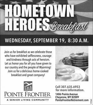 Home town Heroes Breakfast
