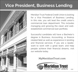 Vice President, Business Lending