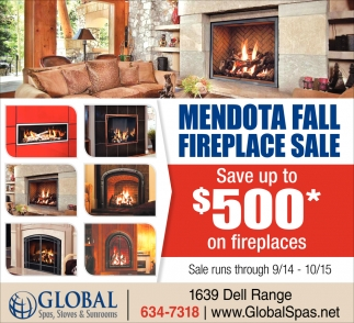 Mendota Fall Fireplace Sale