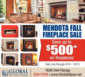 Mendota Fall Fireplace Sale