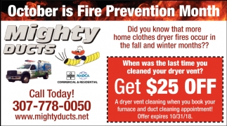 October is Fire Prevention Month
