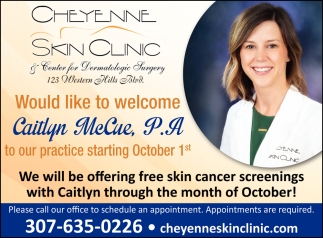 We Will be Offering Free Skin Cancer Screenings