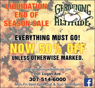 Liquidation end of Season Sale