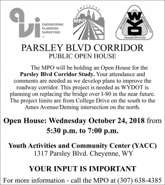 Parsley Blvd Corridor