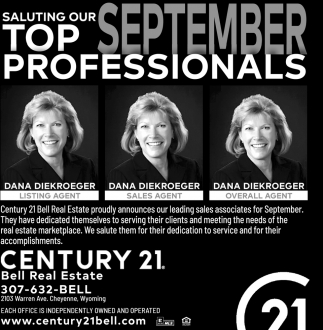 Saluting Our Top September Professionals