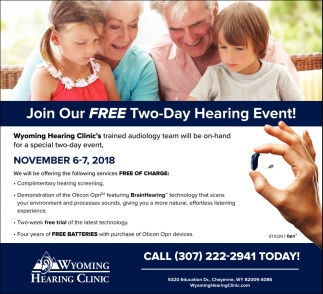Join Our Free Two-Day Hearing Event!