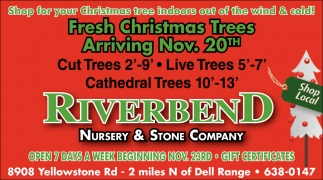 Fresh Christmas Trees Arriving Nov. 20th