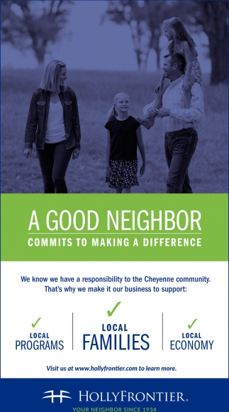 A Good Neighbor is Part of the Community