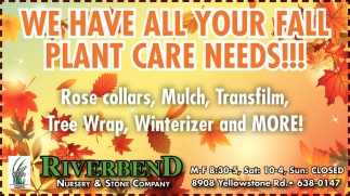 We Have All your Fall Plant Care Needs!
