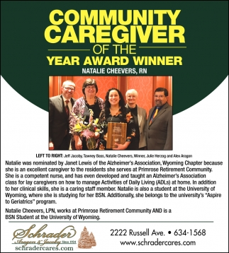 Community Caregiver of the Year Award Winner