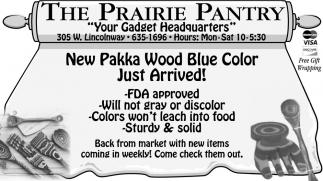 New Pakka Wood Blue Color
