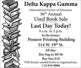 36th Annual Used Book Sale