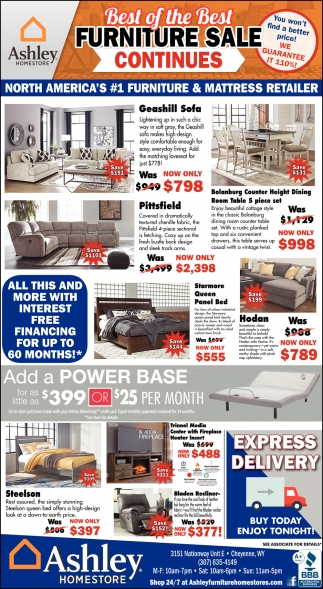 Best of the Best Furniture Sale