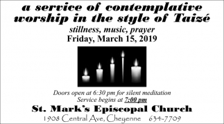A Service of Contemplative Worship in the Style of Taise