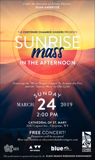Sunrise Mass in the Afternoon