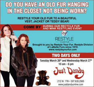 Do You Have An Old Fur Hanging in the Closet Not Beign Worn?