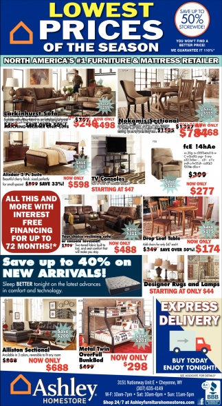 Lowest Prices of the Season