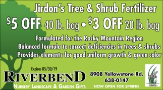 Jirdon's Tree & Shrub Fertilizer