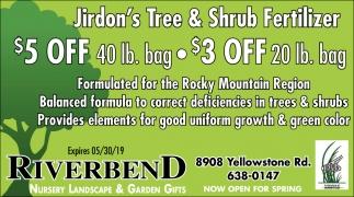 Jirdon's Tree & Shrub Fertilizer