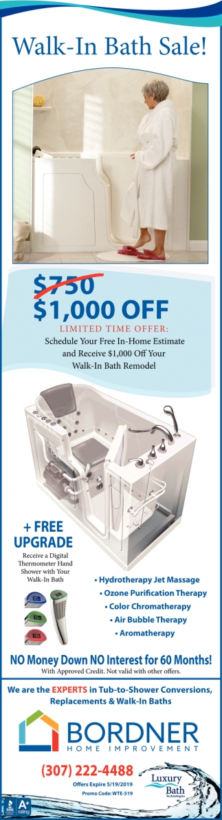 Walk-In Bath Sale!