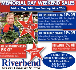 Memorial Day Weekend Sales