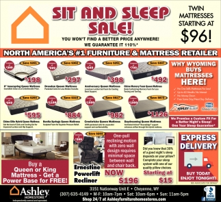 Sit and Sleep Sale!