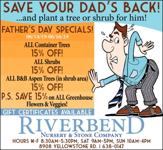 Save Your Dad's Back!