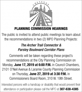Planning Commission Hearings