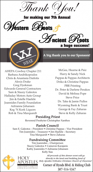 Thank You for Making the 7th Western Boots & Ancient Roots a Huge Success!!